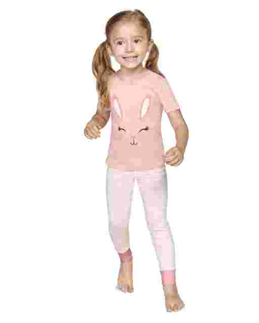 Girls Short Sleeve Easter Snug Fit Cotton 2-Piece Pajamas - Gymmies