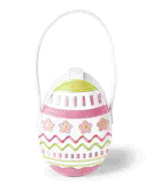 Girls Faux Patent Leather Easter Egg Bag - Garden Party
