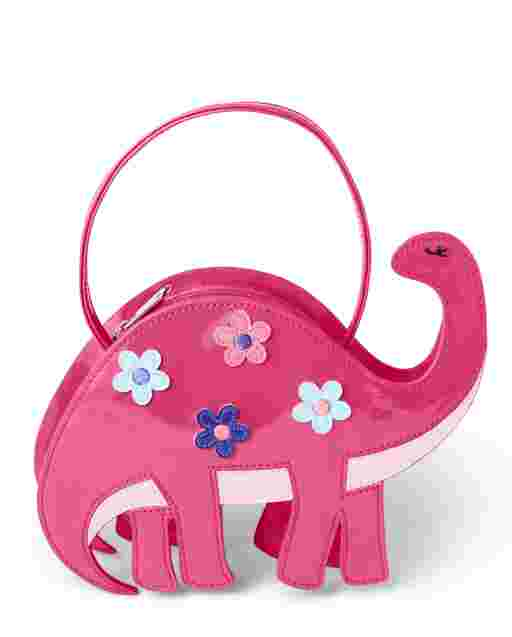 Girls Faux Patent Leather Dino Bag - Hello Dino
