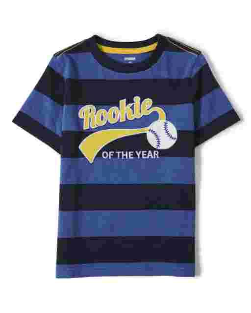 Camiseta de manga corta bordada ' novato del año ' para niños - Lil Champ