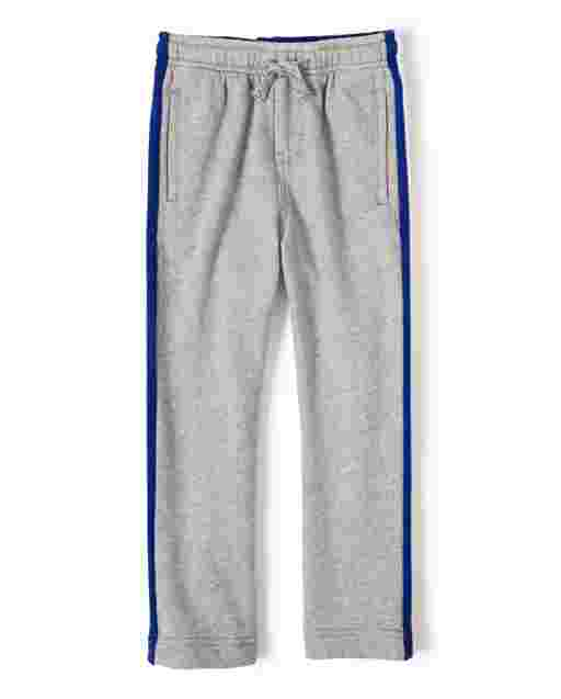 Boys Baseball Side Stripe French Terry Jogger Pants - Lil Champ