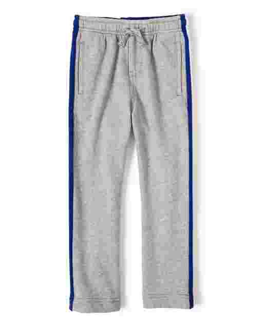 Pantalones jogger de felpa francesa con rayas laterales de béisbol para niños - Lil Champ