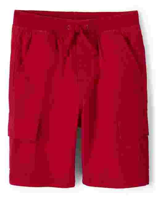 Boys Poplin Pull On Cargo Shorts