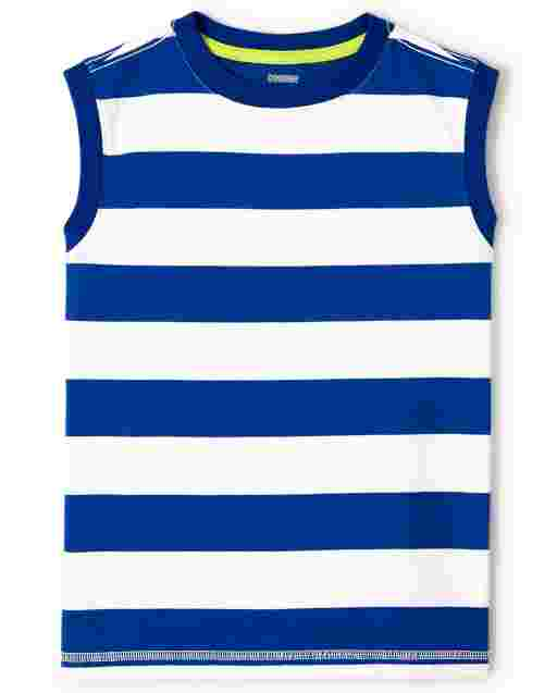 Boys Sleeveless Striped Tank Top