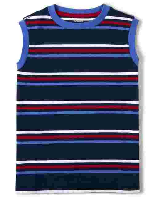 Boys Sleeveless Striped Tank Top
