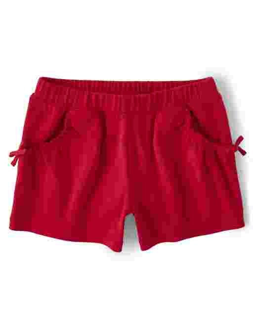Girls Knit Ruffle Shorts - Sweet Watermelon
