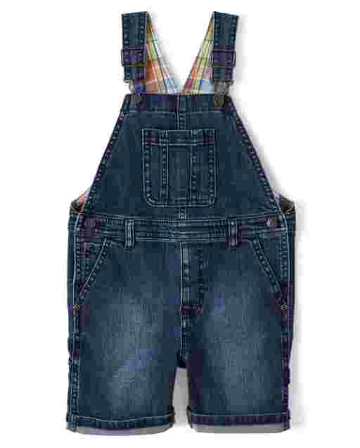 Boys Sleeveless Denim Shortalls - Mr. Fix It