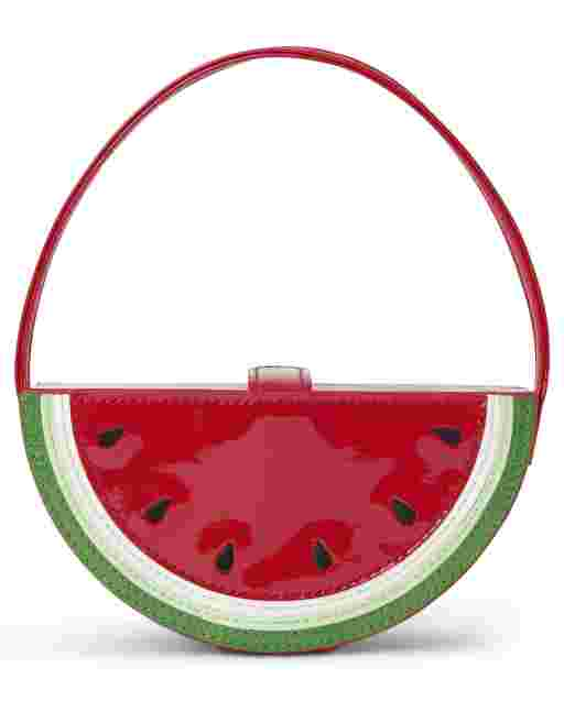 Girls Faux Patent Leather Watermelon Bag - Sweet Watermelon