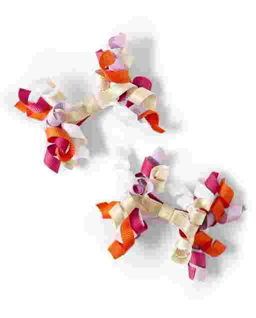 Girls Curly Hair Clips 2-Pack - Summer Sunsets