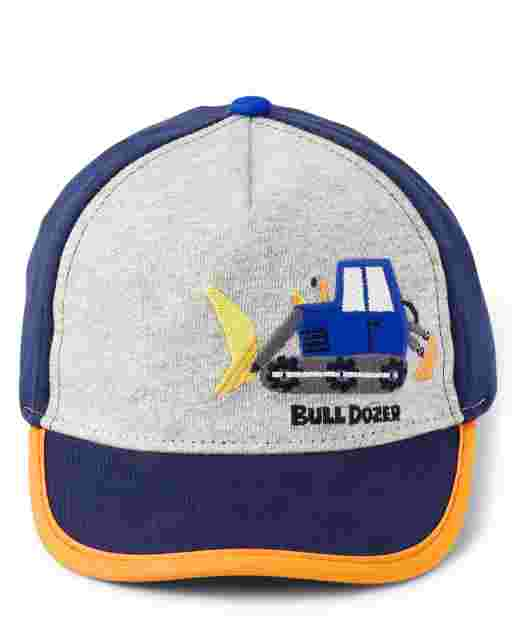 Boys Embroidered Construction Truck Baseball Hat - Mr. Fix It
