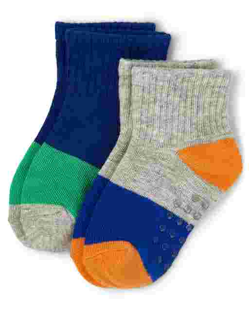 Boys Colorblock Midi Socks 2-Pack - Mr. Fix It
