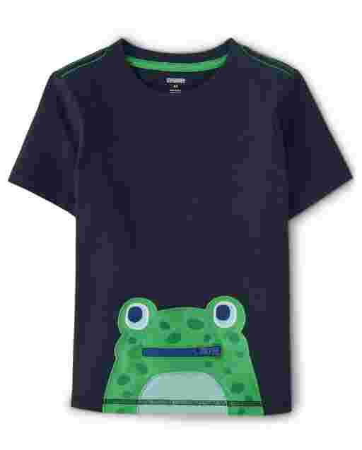 Boys Short Sleeve Interactive Frog And Dragonfly Top - Critter Camp