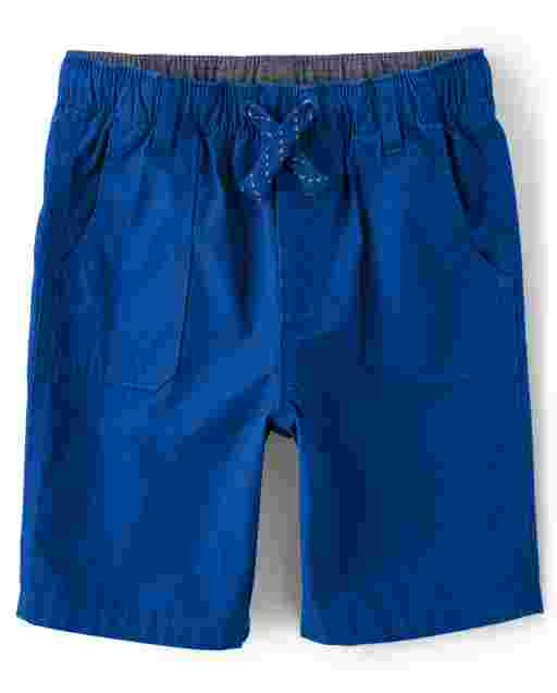 Boys Poplin Pull On Shorts - Mr. Fix It