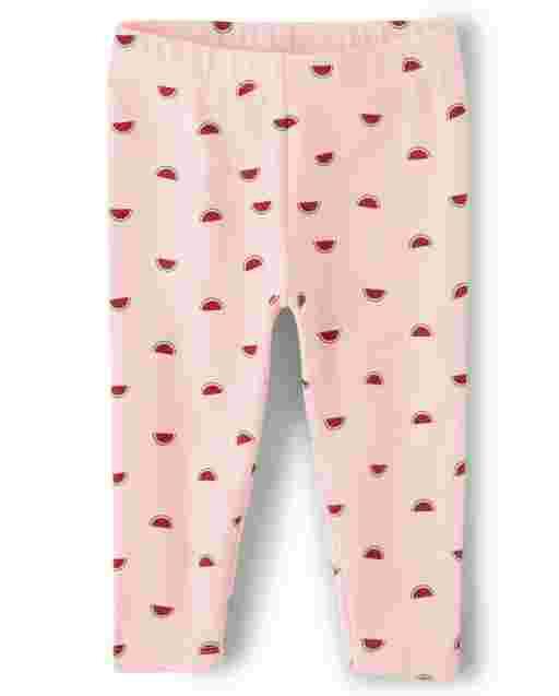 Girls Polka Dot Capri Leggings - Sweet Watermelon