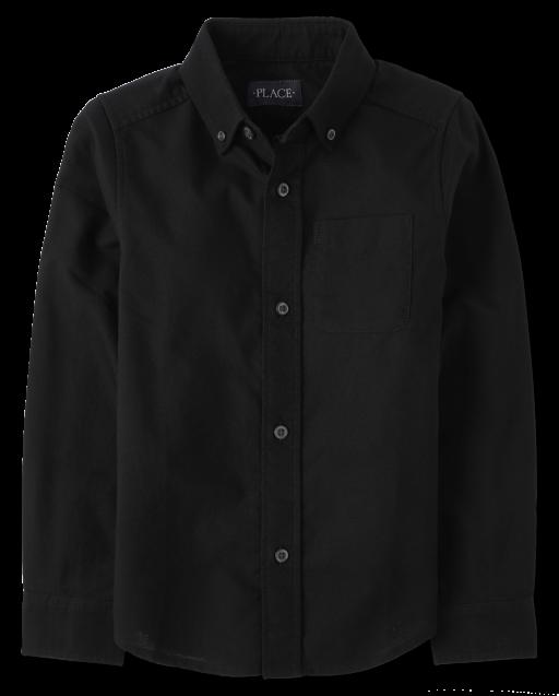 Boys Uniform Long Sleeve Oxford Button Down Shirt