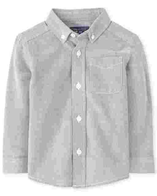Toddler Boys Long Sleeve Oxford Button Down Shirt