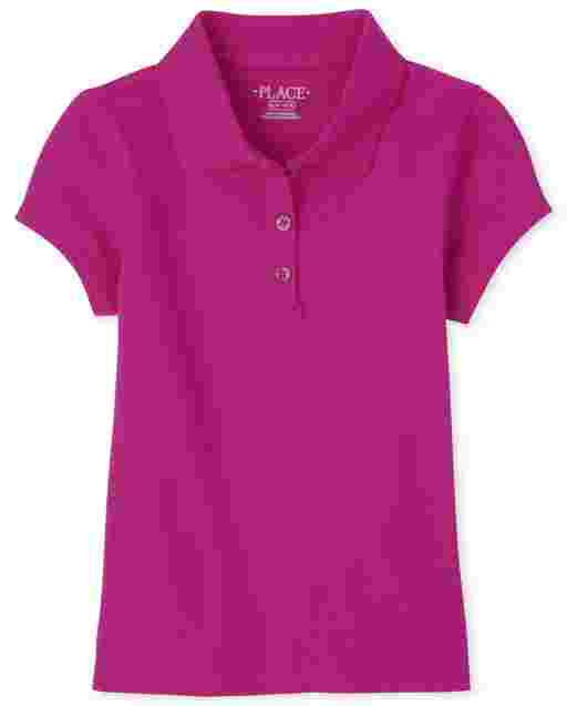 Girls Uniform Short Sleeve Pique Polo