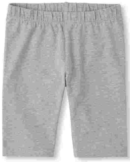 Girls Mix And Match Heathered Knit Bike Shorts