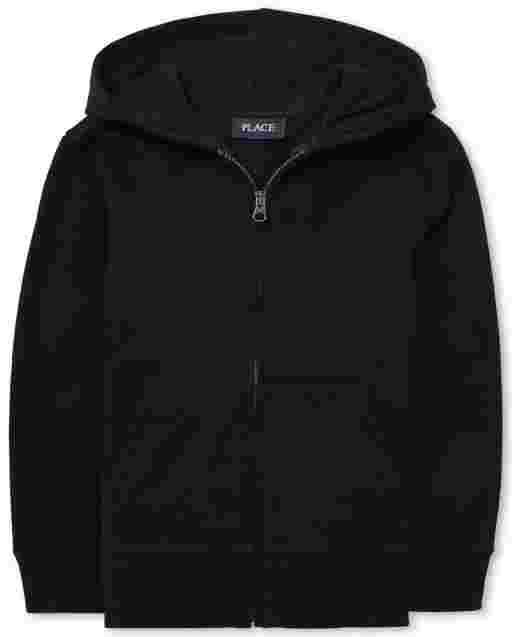 Boys Uniform Long Sleeve Zip Up Hoodie