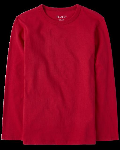 Boys Uniform Long Sleeve Basic Layering Tee