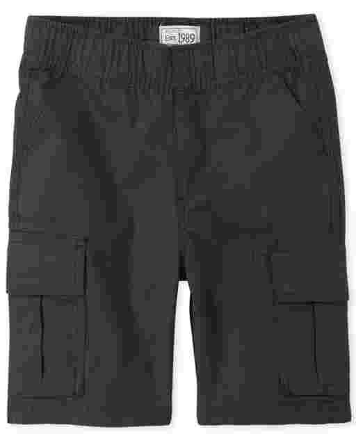 Boys Uniform Woven Pull On Cargo Shorts