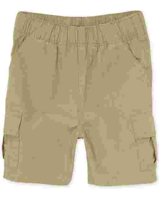 Baby And Toddler Boys Uniform Woven Pull On Cargo Shorts