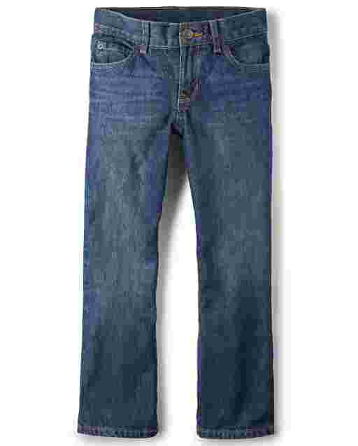 Boys Basic Bootcut Jeans - Dark Jupiter Wash