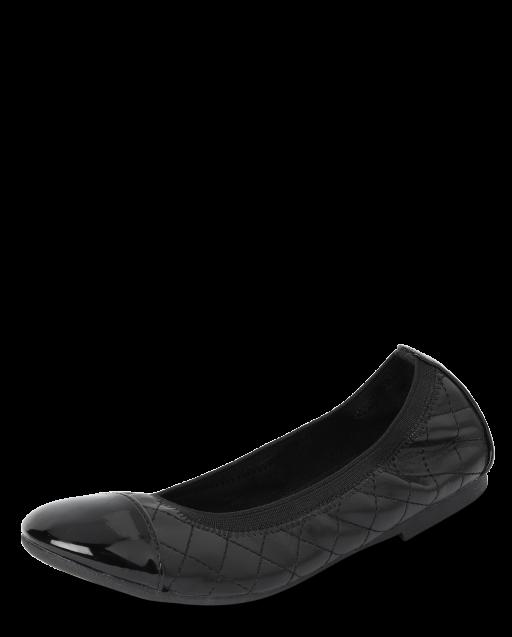 Girls Quilted Ballet Flats