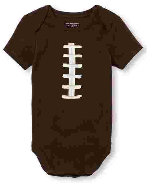 Baby Boys Short Sleeve Football Graphic Bodysuit Bodysuit