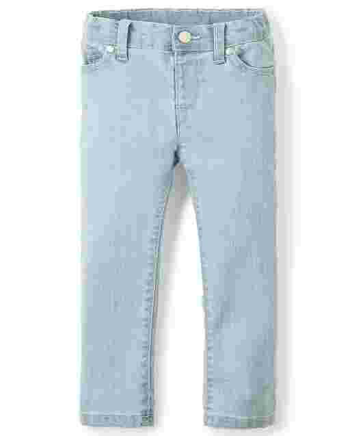 Baby And Toddler Girls Basic Skinny Jeans - Snowflake Wash