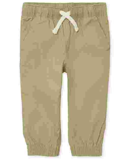Baby And Toddler Boys Uniform Woven Pull On Jogger Pants