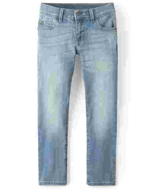 Boys Straight Stretch Jeans - Drift Wash