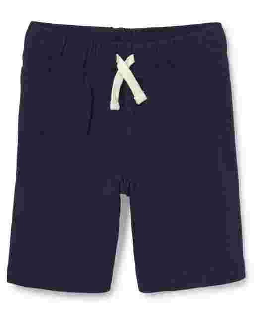 Pantalones cortos de felpa francesa de uniforme para niños