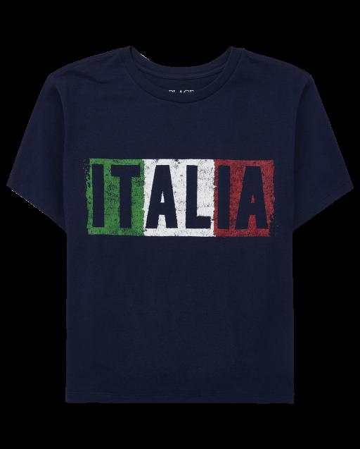 Camiseta estampada Italia para niño