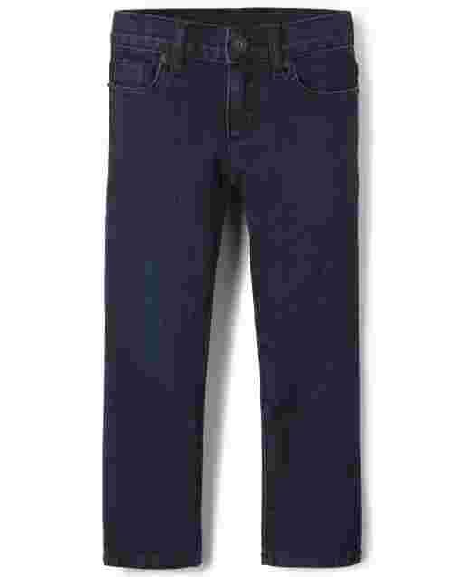 Girls Basic Bootcut Jeans - Super Dark Wash