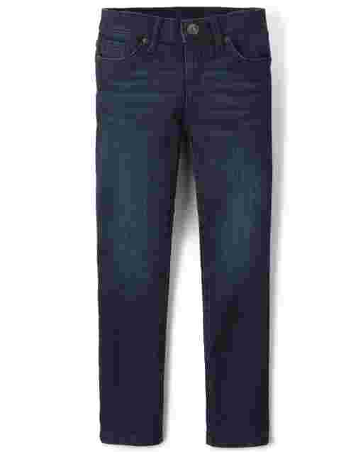 Girls Basic Skinny Jeans - Dark Starry Night Wash
