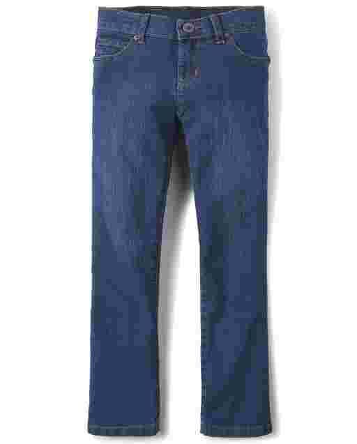 Girls Basic Bootcut Jeans - Victory Blue Wash