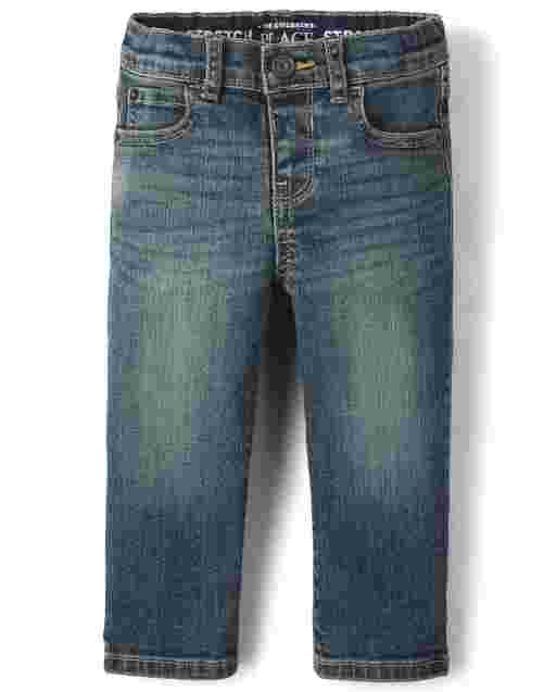 Baby And Toddler Boys Stretch Straight Jeans<br/>