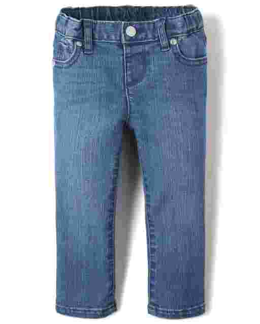Baby And Toddler Girls Basic Super Skinny Jeans - Medium Royal Blue Wash