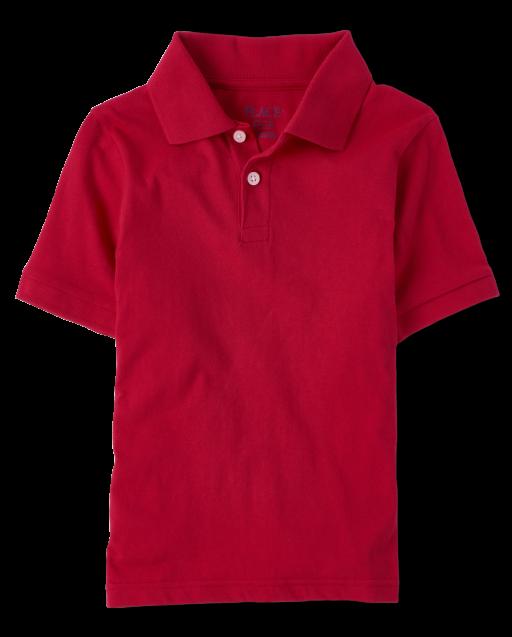 Boys Uniform Short Sleeve Soft Jersey Polo