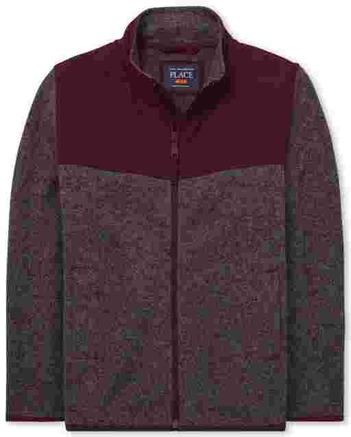 Boys Uniform Long Sleeve Sweater Fleece Trail Jacket