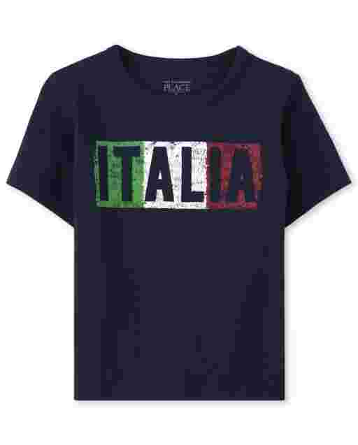 Baby And Toddler Boys Short Sleeve 'Italia' Graphic Tee