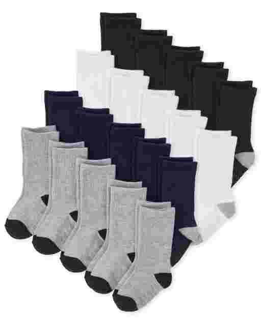 Toddler Boys Crew Socks 20-Pack