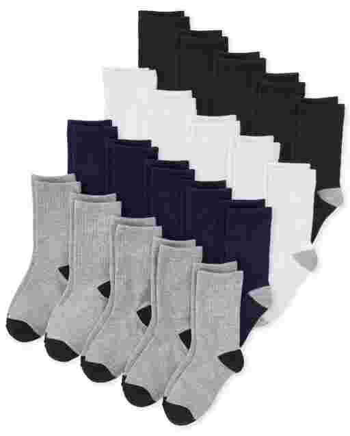Boys Crew Socks 20-Pack