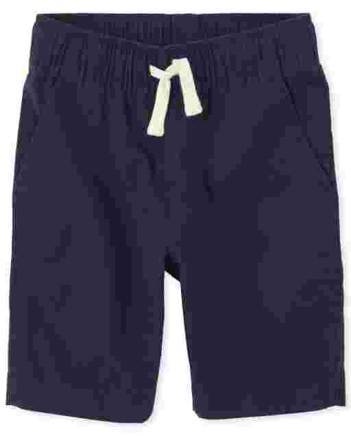 Boys Woven Pull On Jogger Shorts
