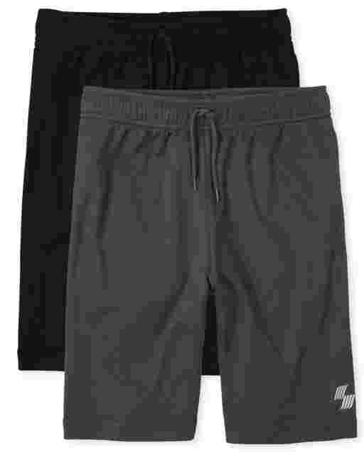 Boys Uniform PLACE Sport Mesh Knit Performance Basketball Shorts 2-Pack