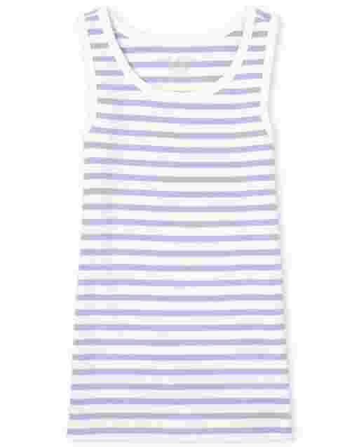 Girls Sleeveless Striped Tank Top