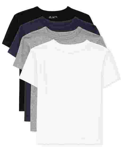Boys Short Sleeve Basic Layering Tee 4-Pack