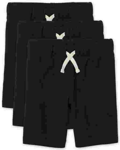 Conjunto de 3 pantalones cortos de felpa francesa de uniforme para niños