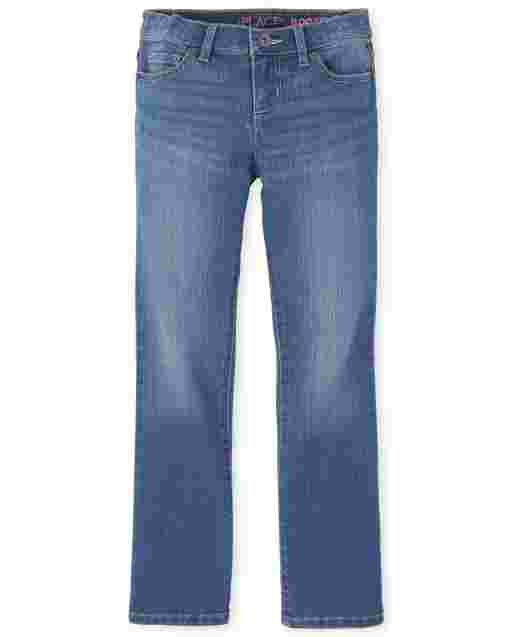 Girls Basic Bootcut Jeans - Lara Wash